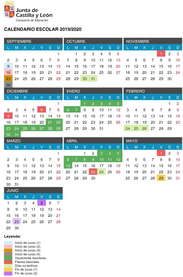 2020 Calendario Laboral.Calendario Laboral Cyl 2020